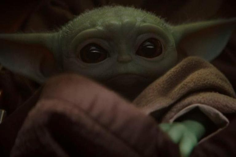 """A scene from """"The Mandalorian,"""" featuring the now-viral and as-yet unnamed character dubbed Baby Yoda. (AP)"""