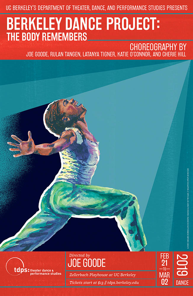 Berkeley Dance Project: The Body Remembers (2019) | Poster by Leila Singleton